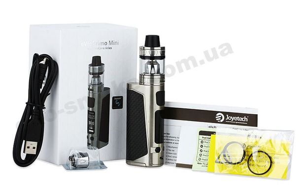 Электронная сигарета Joyetech eVic Primo Mini with ProCore Aries, Серебристый